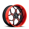 SV53-S Red and Black 5 lug