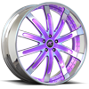 Santorino Purple and Chrome 5 lug