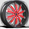 Santorino Black/Red 5 lug