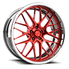 Grid eXL s.concave Red and Polished 5 lug