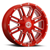 SC-18 Neon Red Milled 8 lug