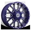 SC-19 Neon Blue Milled 8 lug