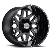 8 LUG SC-24 GLOSS BLACK MILLED