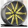 Solari Matte Black with Yellow 5 lug