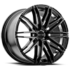 SC102 Gloss Black w/ Inner Rim Machined 5 lug