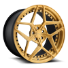 Technica Brushed Matte Transparent Gold 5 lug