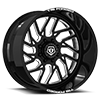 F51 Gloss Black w/ CNC Milled Accents 8 lug