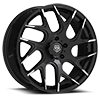 5 LUG 542 GLOSS BLACK WITH MACHINED SPOKE TIPS