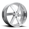 6 LUG TORQUE 6 - PRECISION SERIES BRUSHED W/ POLISHED LIP