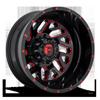Triton Dually Rear - D656 Gloss Black w/ Candy Red 8 lug