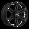 T-01 Flat Black w/ White Inserts 6 lug