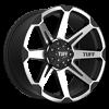 T-05 Flat Black w/ Machined Face 6 lug