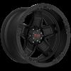 T-10 10-12in. Width Flat Black w/ Red Accents (12in. Width) 5 lug
