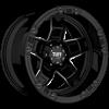 T-10 10-12in. Width Gloss Black w/ Milling (12in. Width) 5 lug