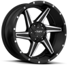 T-11 Satin Black & Machined 5 lug