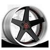 5 LUG CSV SATIN BLACK W/ RED BOLTS