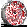 Turbo Brushed Red 5 lug