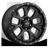 109 Xtreme Satin Black and Satin Clear Coat 5 lug