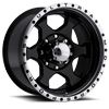 175 Rogue Gloss Black with Diamond Cut Lip and Clear Coat 8 lug