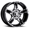 193-194 Drifter Gloss Black with Diamond Cut Accents and Clear Coat 5 lug