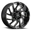5 LUG 221 CARNAGE GLOSS BLACK WITH MILLED ACCENTS AND CLEAR COAT