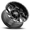 8 LUG 221 CARNAGE GLOSS BLACK WITH MILLED ACCENTS AND CLEAR COAT - 20X10
