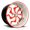 VF603 Red and White 5 lug