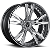 VFY Concave Brushed with Chrome Lip 5 lug