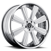 6 LUG VKB CONCAVE SILVER WITH MIRROR CUT LIP