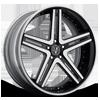 VRH concave Black & Machined/Chrome Rim 6 lug