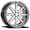 VSG White and Chrome 5 lug