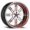5 LUG VSI CHROME W/ ORANGE