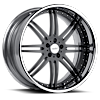 5 LUG VSI BLACK WITH CHROME LIP