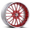 VSM Red with Chrome Lip 6 lug