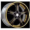 VST Black and Yellow 6 lug