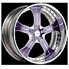 VST Polished Purple with Chrome Lip 5 lug