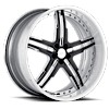5 LUG VSU POLISHED BLACK WITH WHITE LIP