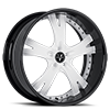 VSY White and Black 6 lug