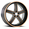 VTL Matte Black with Orange 6 lug