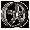 VTL Matte Black with Orange 5 lug