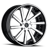 VTV concave Black And White 6 lug