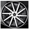5 LUG VTV CONCAVE BLACK AND WHITE