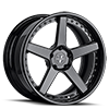 VUH concave Full Black 5 lug