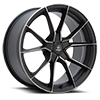 V18 Verve Satin Black Machined Dark Tint 5 lug
