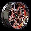 Vincini Black, Silver, and Orange with Chrome Lip 5 lug