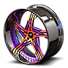 5 LUG VICTORINO ORANGE AND PURPLE WITH CHROME LIP