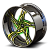 5 LUG VICTORINO GREEN WITH CHROME LIP