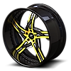 5 LUG VICTORINO YELLOW WITH CARBON LIP