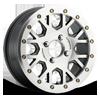GV8BL Invader Beadlock Gunmetal Machined Face Machined Ring 4 lug