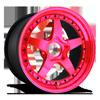 WGR Hi Luster Trans Pink 5 lug